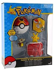 Tomy Pokemon Throw 'N' Pop Duel Pikachu Pokeball & Cubone Repeat Ball Figure Set