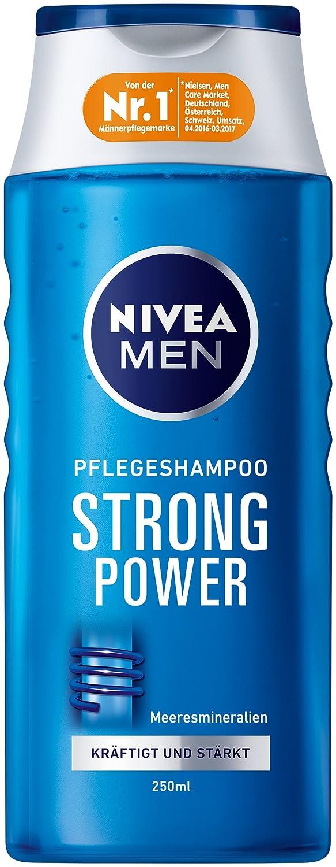 Nivea Men Strong Power Haar-Pflegeshampoo, 6er Pack (6 x 250 ml) 81423-01000-52