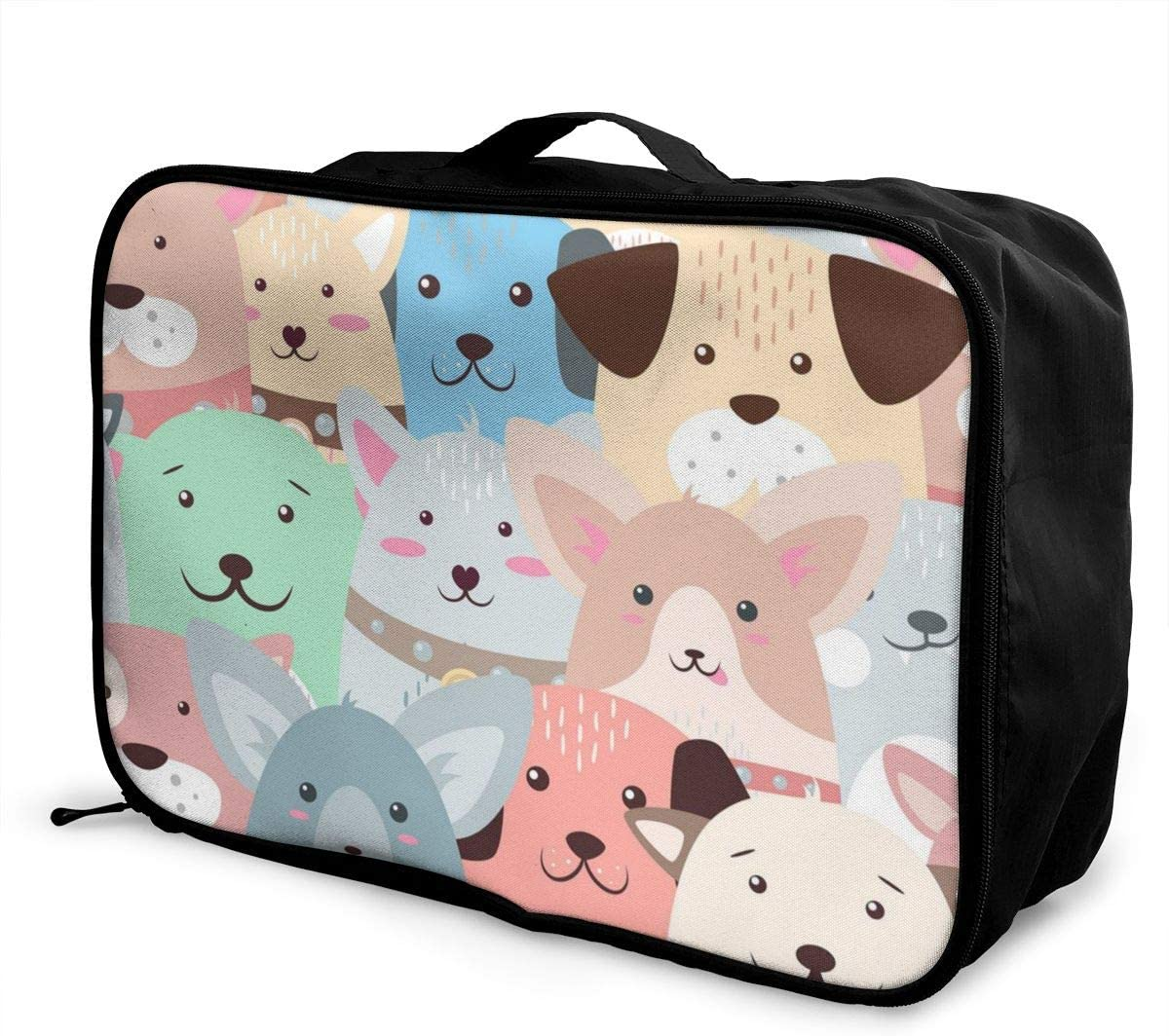Yunshm Animals Dog Cute Funny Pattern Customized Trolley Handbag Waterproof Unisex Large Capacity For Business Travel Storage