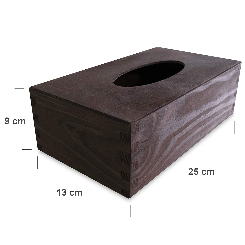 Perfekt f/ür Decoupage Lagerung und Dekoration W/ürfel Holzkiste f/ür Taschent/ücher Creative Deco Kosmetikt/ücherbox 13 x 14,5 x 14 cm Papiertuchspender