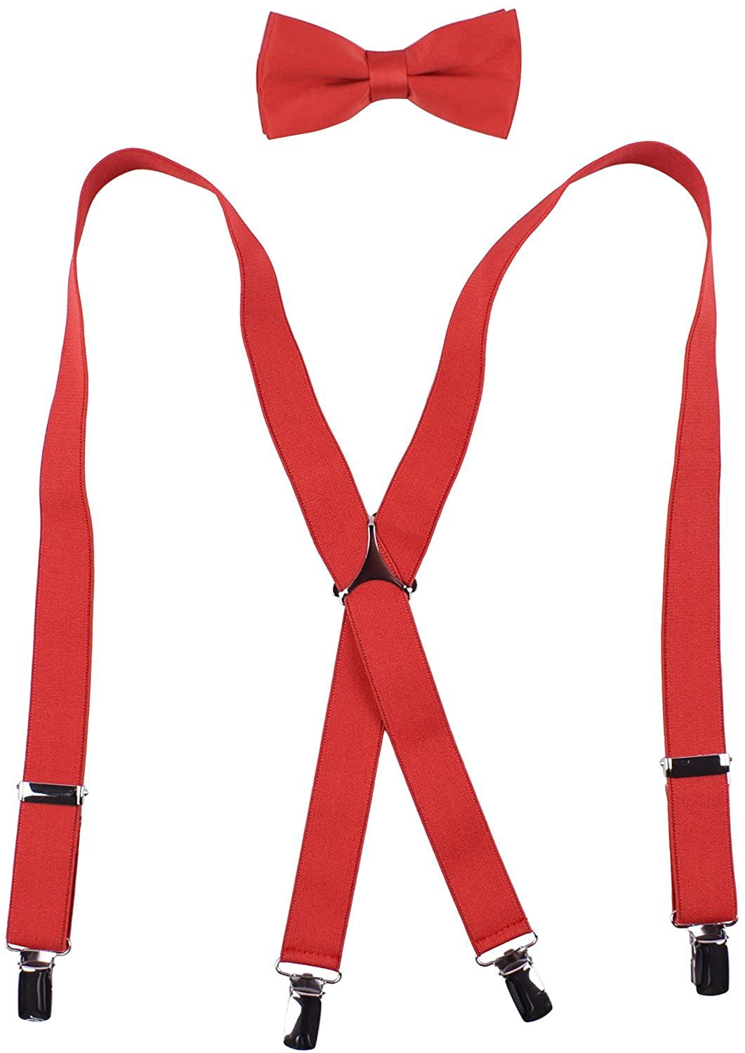 ed3a49d9debc Material - Suspenders: Microfiber, Rubber, Stainless Steel. Bow tie: Satin  Polyester. Sizes - 22