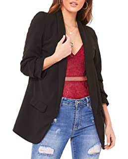 Ladies Open Front Womens Ruffle Bell Frill Long Sleeves Casual Jacket Cardigan