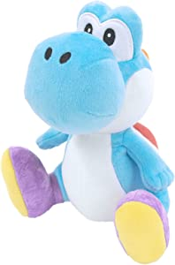 Sanei Super Mario All Star Collection Yoshi Plush Small (Light Blue)