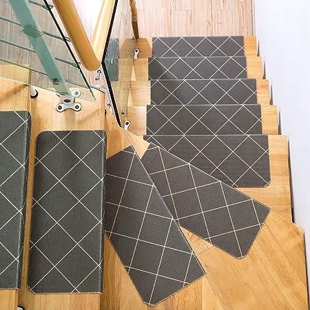 HSBAIS Alfombras de Escalera Antideslizantes, 10 Piezas Alfombras para Escalera Lavable Alfombras Rectangular Decoración del hogar para Escalera Alfombrilla,55×24×4.5cm: Amazon.es: Hogar