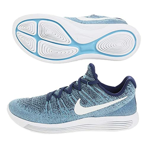 b1bf4aee9d9 Nike Women s Lunarepic Low Flyknit 2 Running Shoe Binary Blue White-Polarized  Blue 6