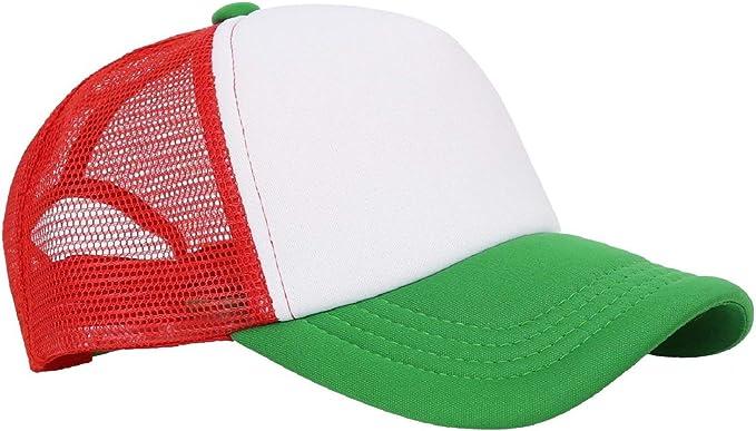 MESH KNITTED PLAIN FITTED SUMMER BASEBALL HAT CAP BLACK RED