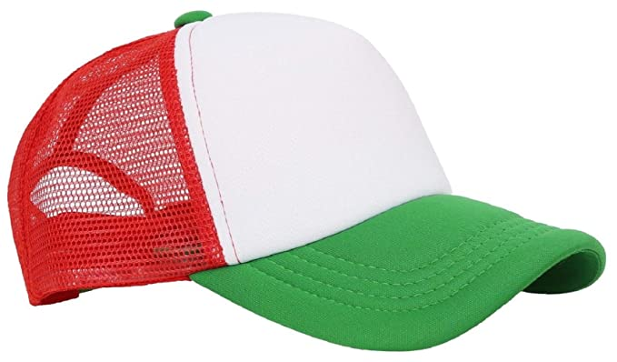 07dc987b8ad Bright Sun White Red Green Plain Baseball Cap Basic Adjustable Solid ...