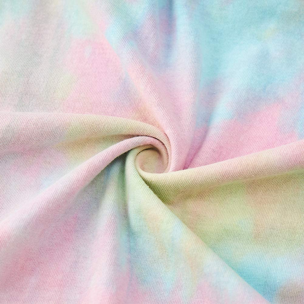 TUONROAD Sudaderas con Capucha para Mujeres Chicas Tie Dye Estampado Hoodie Manga Larga Casual Sudadera S-XL