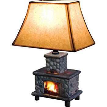 Mossy Oak Deer Antler Accent Lamp Dark Woodtone Table