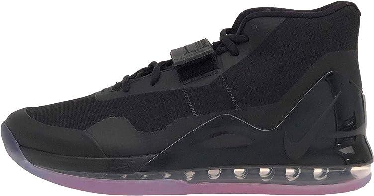 Nike Men's Air Force Max Black/Bright Crimson/Anthracite Mesh Basketball  Shoes 9.5 M US