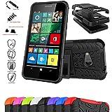 Coque Pour Microsoft Lumia 550,Mama Mouth Protection Hybride En Mélange Avec Béquille De Support Intégrée Housse Coque Étui Couverture pour Microsoft Lumia 550,Noir