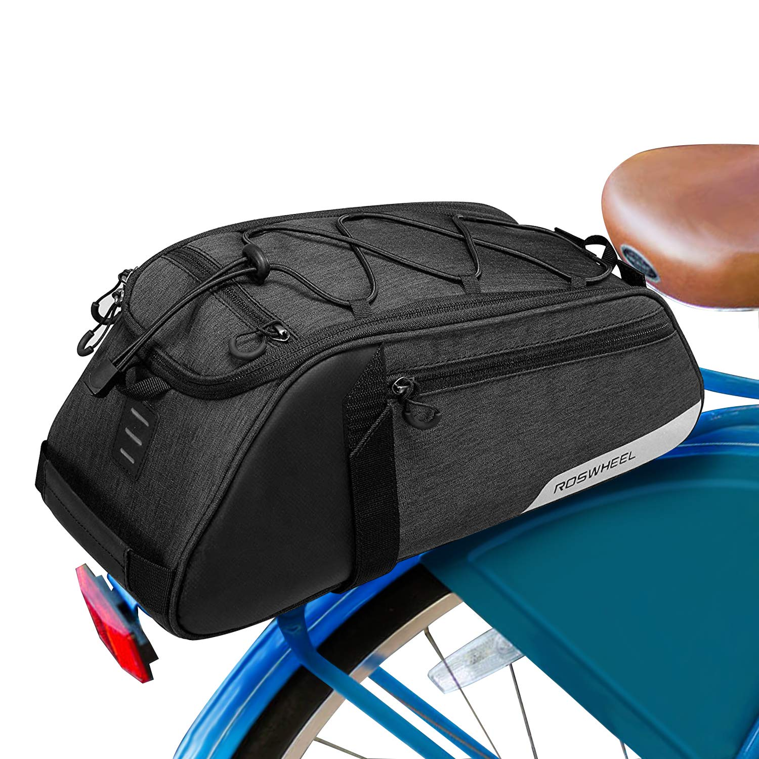 Allnice Bike Trunk Bag 8L Bicycle Seat Pack Panniers Bag for Rear Rack Cycling Saddle Pouch Bag