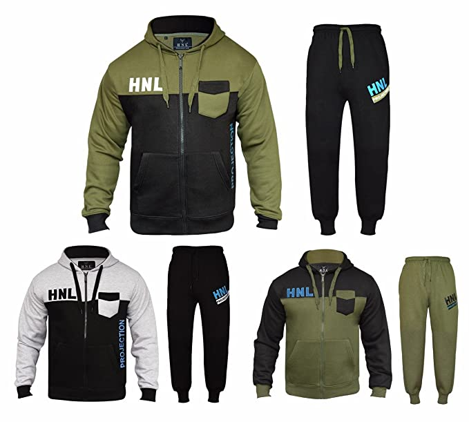 d1addcf993 New Men & Boys HNL Tracksuits Hooded Zip Top and HNL Tracksuits ...