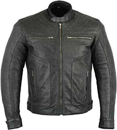 With Armour Mens Texpeed Two Tone Leather Motorbike Jacket Great Size Range