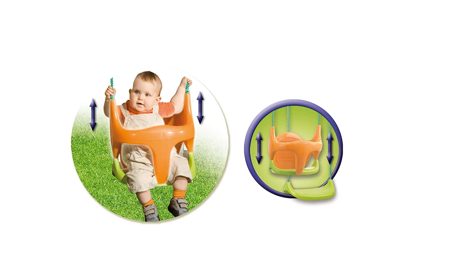 Smoby 031450 - Smoby Outdoor - 2 in 1 Baby-Schaukelsitz