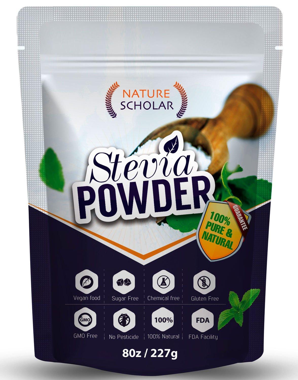 Sugar Substitute Stevia Powder 8oz (1520 servings) - Pure Natural Sweetener - Pure Stevia Extract - Zero Calorie No Chemical
