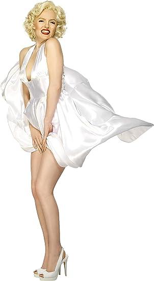 Smiffys-27428L Licenciado Oficialmente Disfraz Classic de Marilyn ...