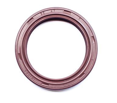Oil Seal 35X52X7mm TC Viton Coated Metal Case EAI Double Lip w// Spring