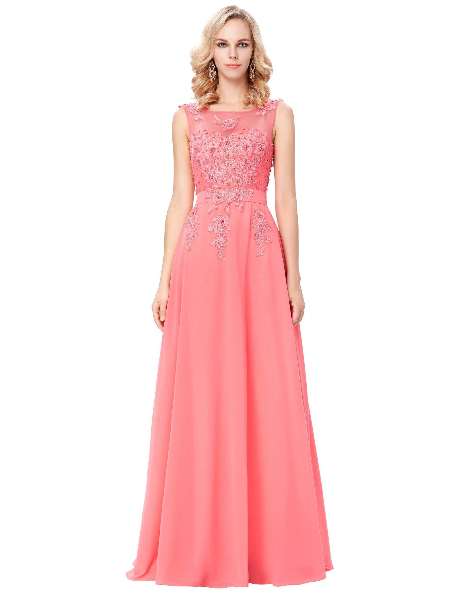 Coral Maxi Dresses for Weddings: Amazon.co.uk