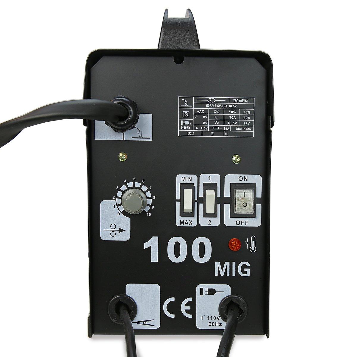 XtremepowerUS 100 AMP MIG Welder Welding Machine With Accessories by XtremepowerUS (Image #2)