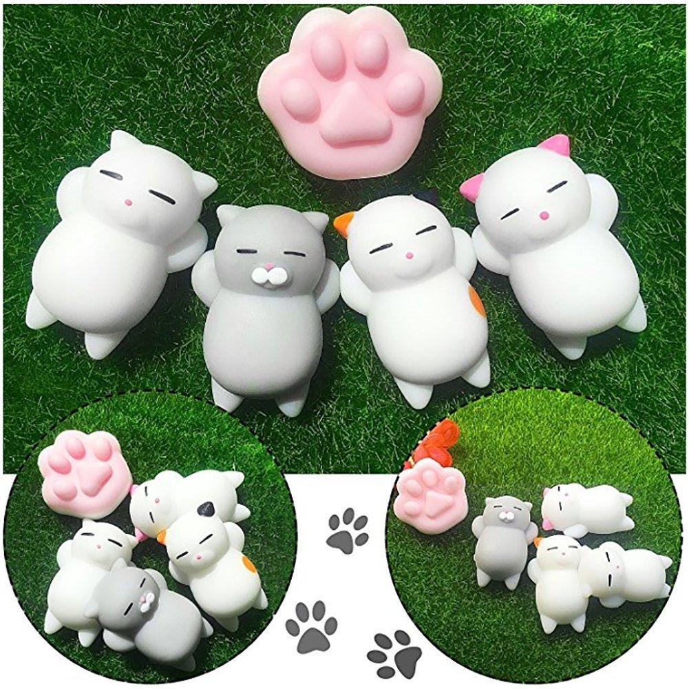 Yakiki Squishy Kawaii (Paquete DE 16) | Tiernos squishies de Animales Que recuperan su Forma Lentamente | Gatos, Panda, Cerdos, Conejos | Divertidos, ...