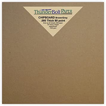 Amazon De 100 Blatt Braun Spanplatte 80 Point Extra Dick 20 3 X 20