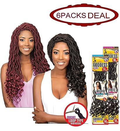 Amazoncom Eve Hair African Nature Braid Individual Crochet