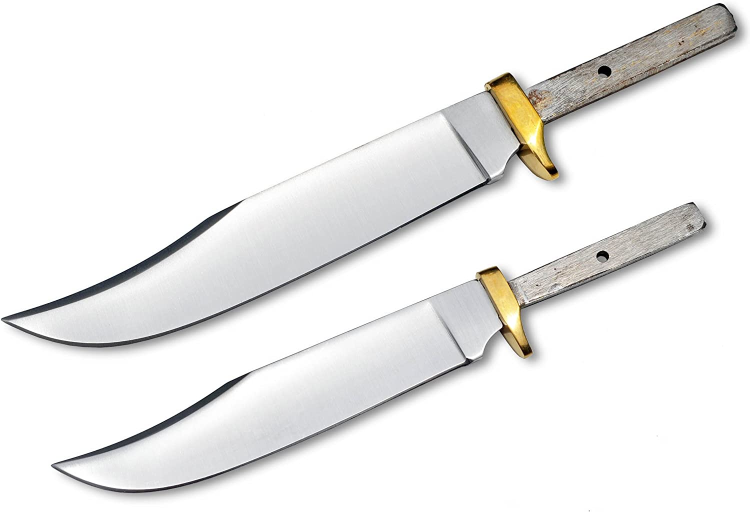Whole Earth Supply Set of 2 Blades for Knife Making 7 1 2 9 Mini Hunter Blank Custom Game Hunting Blanks Skinning Knives