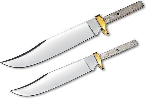 Whole Earth Supply Set of 2 Blades for Knife Making 7 1 2 9 Mini Hunter Blank Custom Game Hunting Blanks Skinning Knives