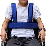 Wheelchair Seat Belt Torso Support Vest for Patient, Elderly & Disabled, Adjustable Full Body Harness Prevent Tilting or Fall