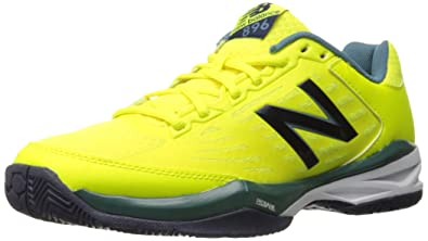 New Balance Men's 996v2 Tennis Shoe, Blue/Yellow, 10.5 D US