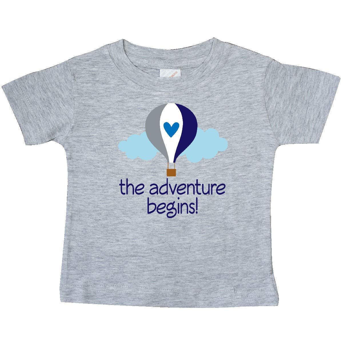 inktastic The Adventure Begins Hot Air Balloon Boys Baby T-Shirt