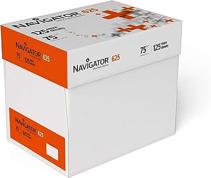 Navigator 625 - Papel multiusos para impresora - A4 75gr - 5 Paquetes - 3125 Hojas: Amazon.es: Oficina y papelería