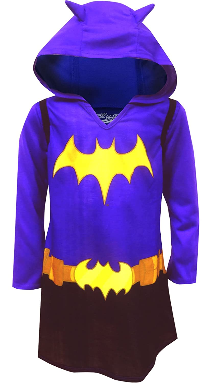 Komar Kids DC Comics Dress Like Batgirl Hooded Nightgown for Big Girls K183246HG