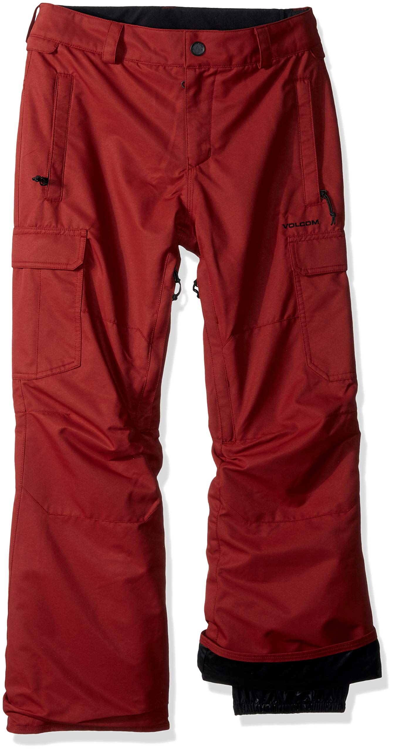 Volcom Boys' Big Cargo Insulated 2 Layer Shell Snow Pant, Burnt red, Extra Small by Volcom