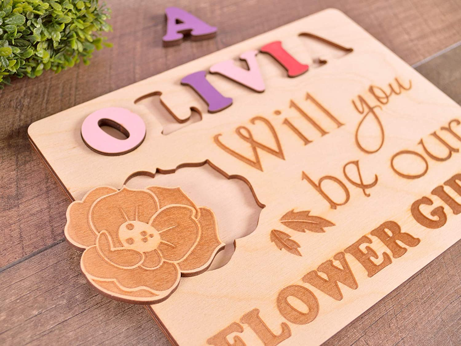 Flower girl proposal Page Boy Gifts Will you be our flower girl gift