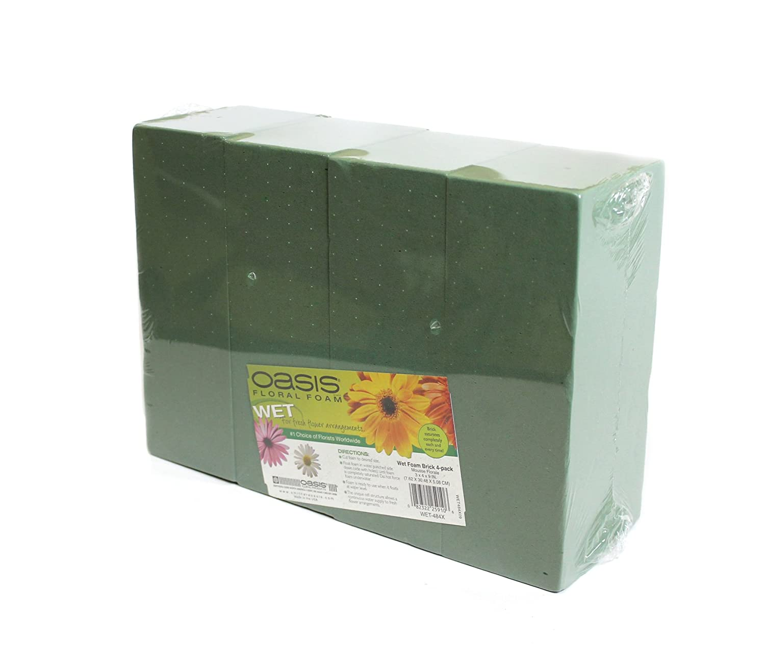 Oasis Floral Foam Bricks Standard Maxlife Pack of 4 Smithers-OASIS