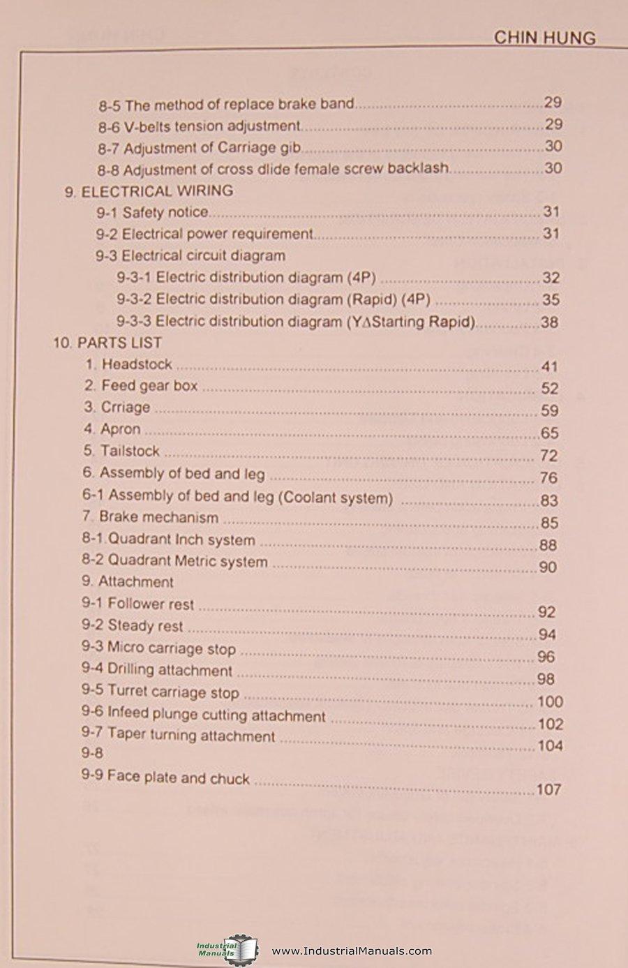 Kingston Series CHD 560, CHD-660 CHD-760, Lathe, Operations Installation  Maitnenance Service Parts Manual: Kingston: Amazon.com: Books