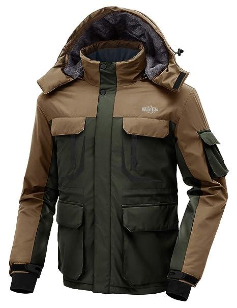 Amazon.com: Wantdo - Chaqueta de esquí para hombre, cálida ...