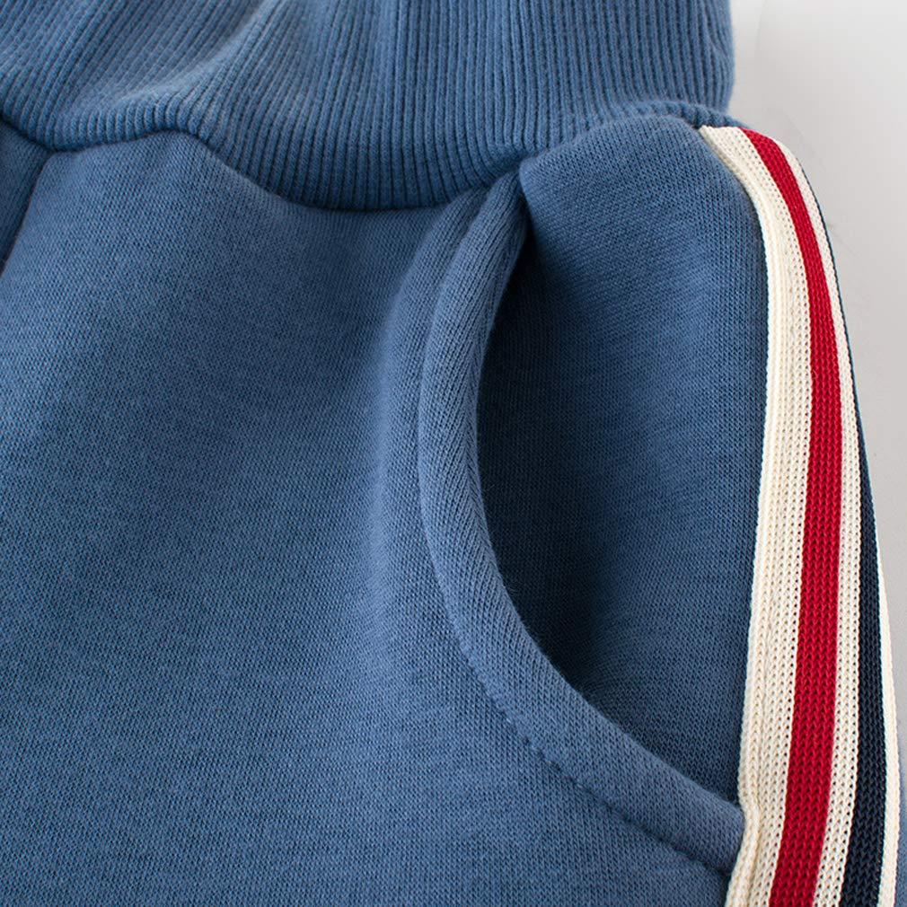 PoonStyling Kids Little Boys Sport Pants,Fleece Drawstring Elastic Sweatpants Jogger for 1-10 Years