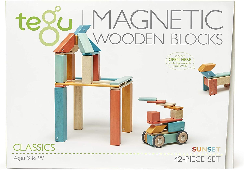 B018KHAKPE 42 Piece Tegu Magnetic Wooden Block Set, Sunset 71DC2BW4lwIL.SL1500_