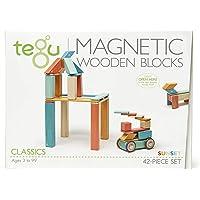 Tegu Magnetic Wooden Block Set, Sunset, 42 Piece