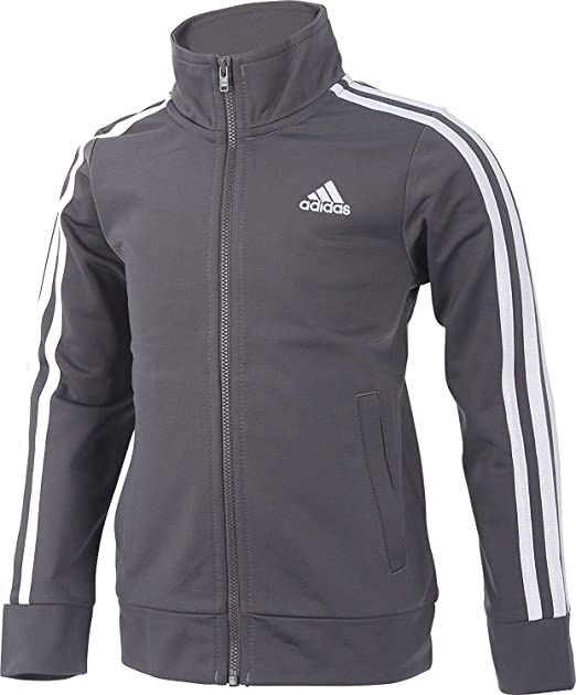 ceb1f5051 Amazon.com  Adidas Boys  Warm Up Tricot Jacket (Grey Five