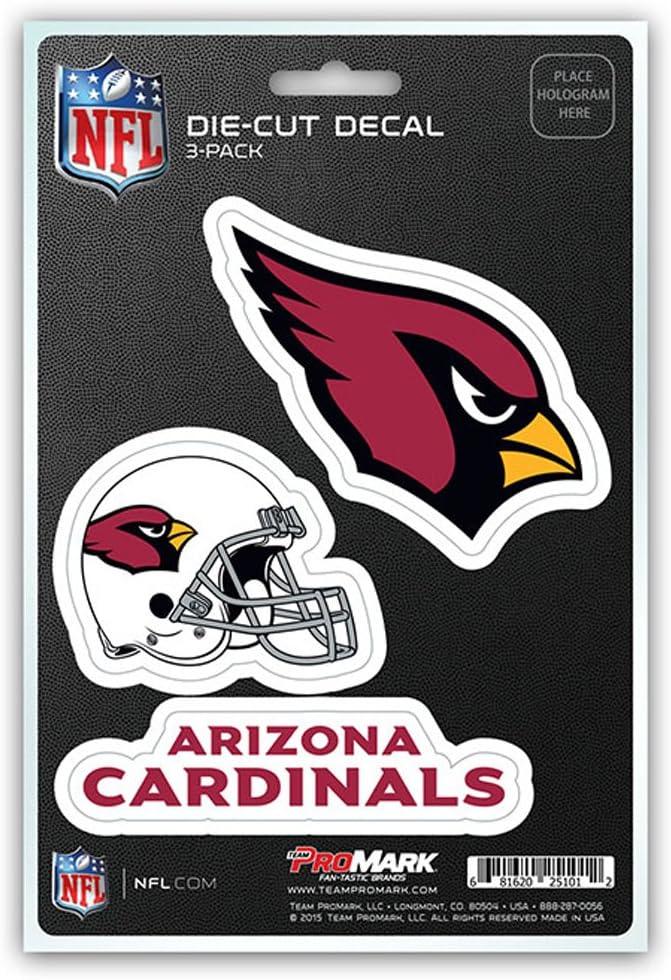 NFL Arizona Cardinals Team Decal 3-Pack