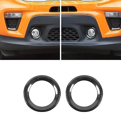 Car Front Fog Light Cover, Fog Lamp Bezels Trim for Jeep Renegade 2020 2020 (Carbon Fiber Grain): Automotive [5Bkhe1008370]