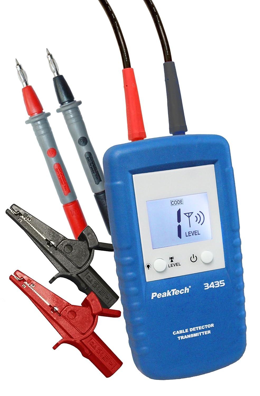 Leitungsfinder 1 St/ück P 3435 TR mit Spannungsmessung und Einstellbarer Kanalkennung PeakTech Zusatzsender f/ür 3435 Leitungssuchger/ät Ortungsger/ät