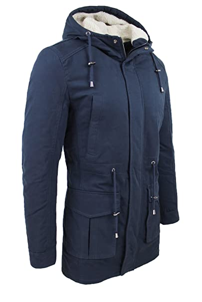 size 40 62b04 5d004 Giubbotto Parka Uomo Blu Casual Slim Fit Giacca Invernale ...