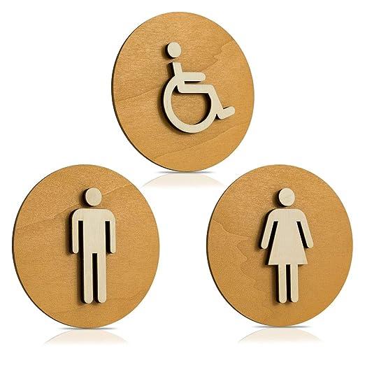 Cartel Madera de WC, Cartel para puerta, Cartel mujer ...