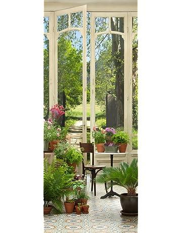 PLAGE 141024 adhesivo de decoración para puertas, trampantojo puerta-Jardín de invierno, 204