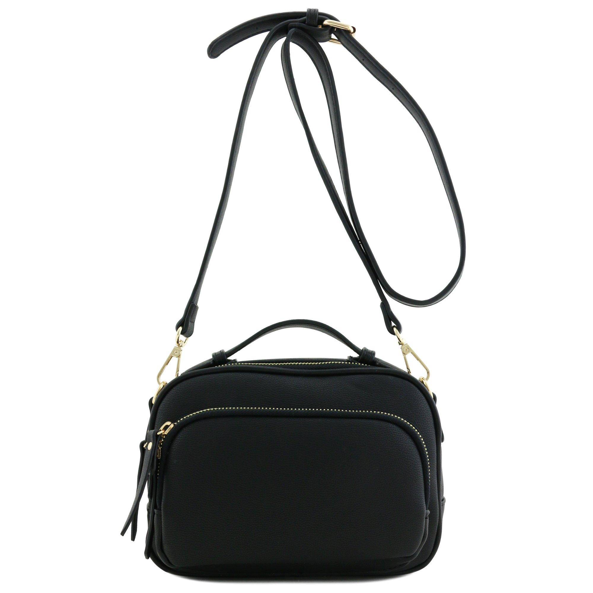 Top Handle Mini Tote Bag Crossbody Purse Black